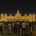 Amba Vilas Palace Mysore - illuminated.jpg