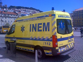 Emergency medical services in Portugal - Image: Ambulancia INEM