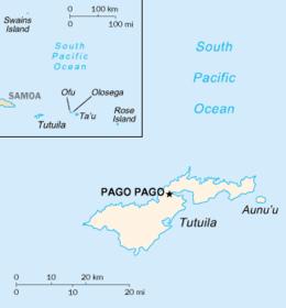 Tutuila Wikipedia - Map of american samoa