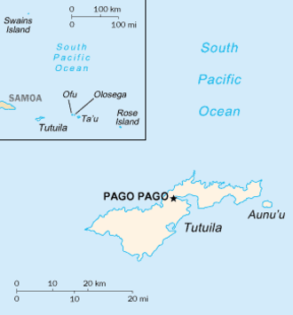 Outline of American Samoa - An enlargeable basic map of American Samoa