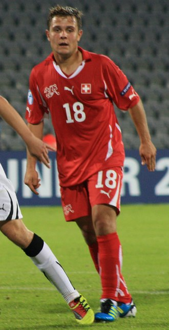 Amir Abrashi - Abrashi playing for Switzerland U21 at the UEFA Euro U21 2011