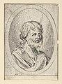 An apostle raising his eyes in prayer, in an oval frame, from Christ, the Virgin, and Thirteen Apostles MET DP837898.jpg