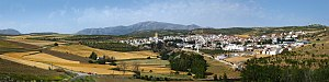 Alhama de Granada - View of Alhama de Granada from the A402 approach