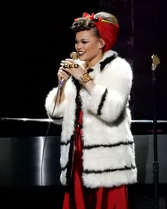 Andra Day - Andra Day performing at Radio City Music Hall in New York City, March 2016.