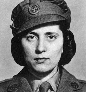 Andrée Borrel - In FANY uniform after joining SOE (1942).