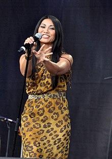 Anggun au concert pour l'égalité de SOS Racisme le 14 juillet 2011.