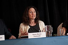 Anna Maria Tremonti, host of CBC Radio's The Current, makes a point at Muzzled Media -- The Global Challenge (5864166263).jpg
