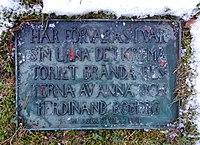 Anna och Ferdinand Bobergs grav 2016.jpg