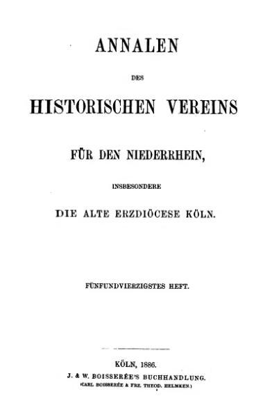 File:Annalen des Historischen Vereins für den Niederrhein 45 (1886).djvu