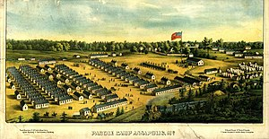 "Parole camp - The first Union Army ""parole camp"" for exchanged Northern prisoners of war, was opened in Annapolis, Maryland in 1862."