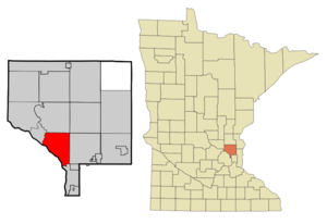 Coon Rapids, Minnesota - Image: Anoka Cnty Minnesota Incorporated and Unincorporated areas Coon Rapids Highlighted