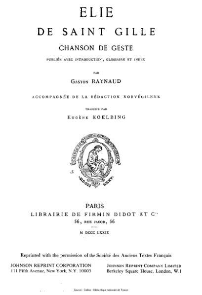File:Anonyme - Elie de Saint Gilles.djvu