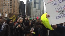File:Anti-Trump protest in NYC, beginning of day, March 19, 2016, part 3 of 3.webm
