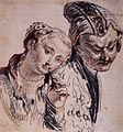 Antoine Watteau - Sketch with Two Figures - WGA25490.jpg