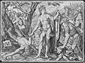 Apollo flaying Marsyas. Engraving by Melchior Meyer. Wellcome L0003099.jpg