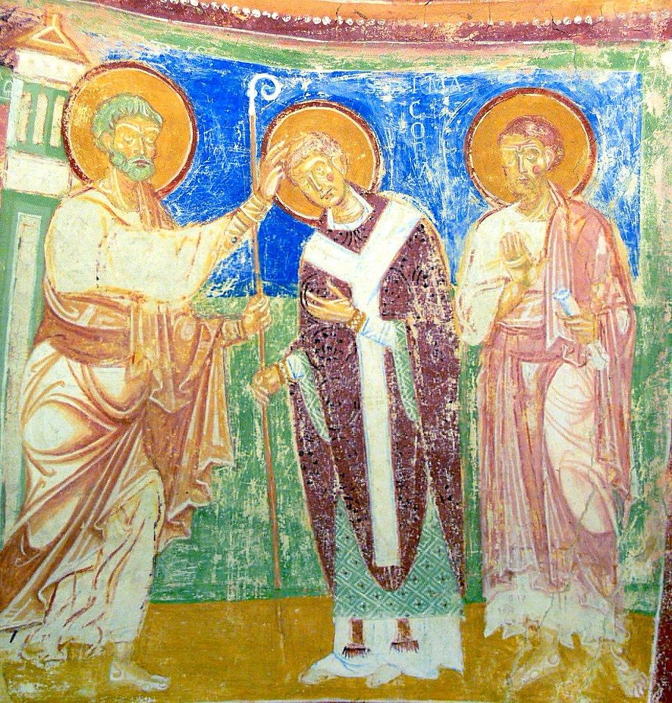 Aquileia Basilica - Krypta Fresco Bischofsweihe Hermagoras