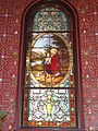 Arbonne (Pyr-Atl., Fr) stained glass window with angel.JPG