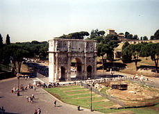 Arch of Constantine from Colosseum.jpg