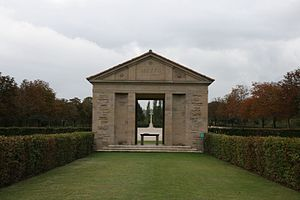 Arezzo War Cemetery - The entrance, seen in 2007