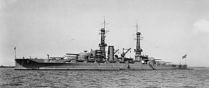 Arizona (BB39) Port Bow, Underway - NARA - 5900075 - 1930.jpg