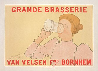 Women in brewing - Advertisement for the Armand Rassenfosse-Grande Brasserie