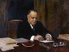 Giacomo Grosso, Ritratto dell'onorevole avvocato Cesare Sarfatti (1926)