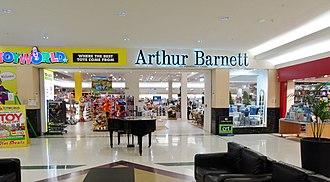 Arthur Barnett Ltd - Arthur Barnett Lower Level entrance circa 2014