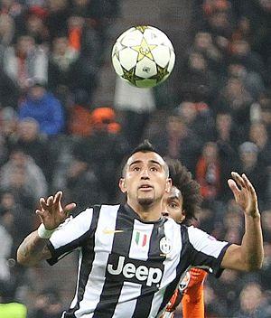 Arturo Vidal - Vidal playing for Juventus in December 2012