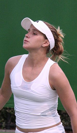 Sports visor - Tennis player  Ashley Harkleroad wears a sports visor at the 2007 Australian Open