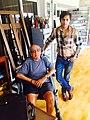 Asif Kamal with artist Akbar Padamsee.jpg