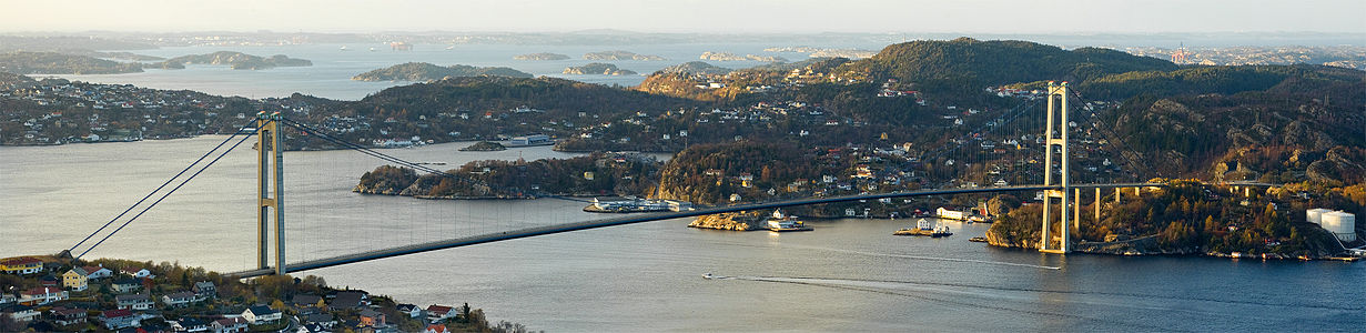 The Askøy Bridge between Askøy and Bergen in Hordaland, Norway.