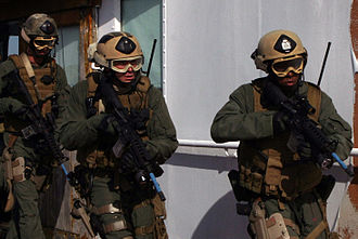 Visit, board, search, and seizure - Marines from the 24th Marine Expeditionary Unit conduct VBSS training
