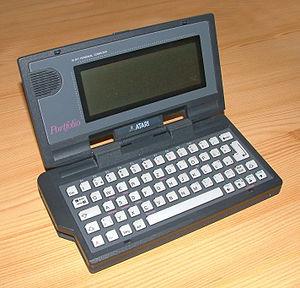 An Atari Portfolio portable computer