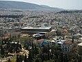 Atenes i Museu de l'Acròpoli d'Atenes des de l'Acròpoli.JPG