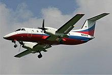 Embraer EMB 120 della Atlant-Soyuz Airlines nella livrea attuale.