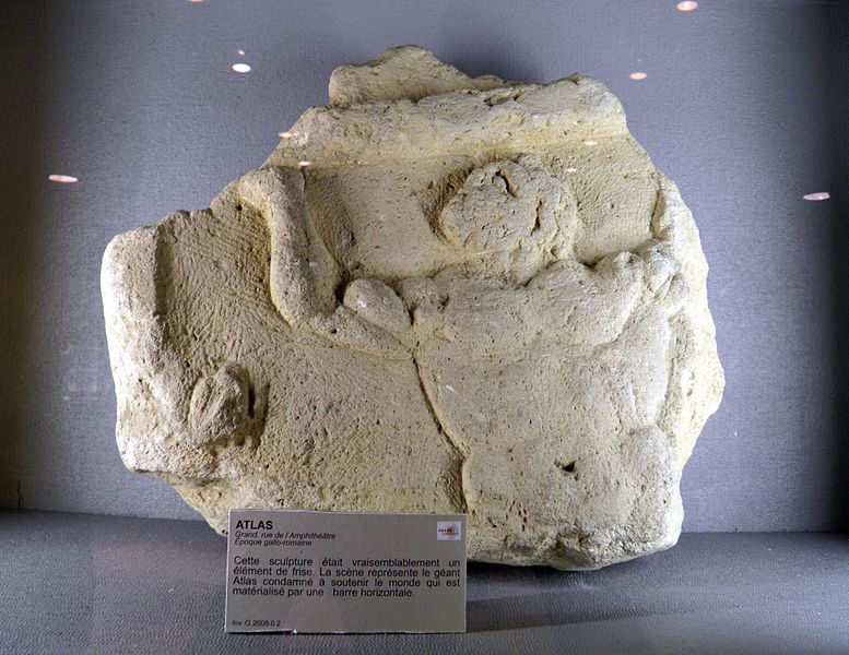 Atlas, architectural element from a frieze, Roman Grand (Andesina), France
