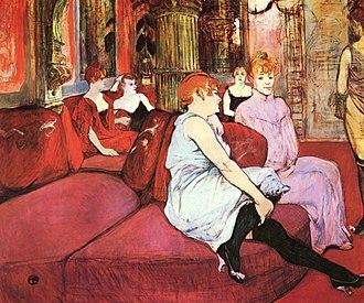 La Fleur blanche - Au Salon de la rue des Moulins  - Toulouse-Lautrec, 1894