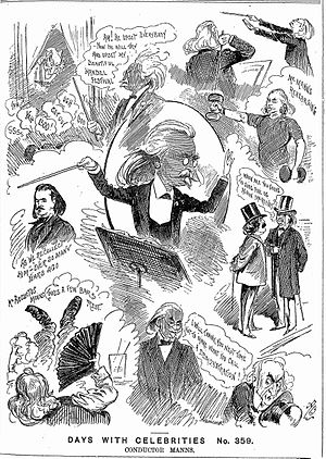 August Manns - 1888 caricatures of Manns