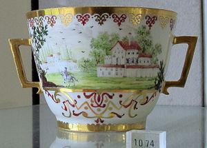 Hausmalerei - Augsburg hausmalerei cup 1725-40