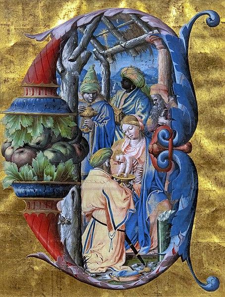 File:Augustins - Antiphonaire de Philippe de Lévis, évèque de Mirepoix - Adoration des Mages - Antoine Olivier 1533-1537.jpg