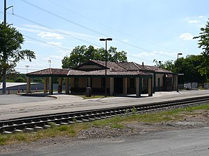 Austin Amtrack station (Texas, USA) Français :...