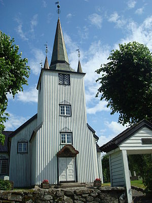 Austre Moland Church - View of the church