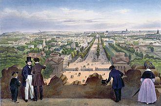 Champs-Élysées - Champs-Élysées circa 1850