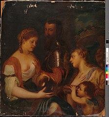 Markiisi Alfonso d'Avalos ja hänen rakastajattarensa, kopio Titiano Vecellis