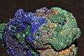 Azurite et malachite sur cuivre 3(Maroc).jpg