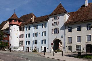 Delémont Place in Jura, Switzerland