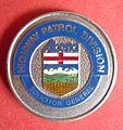 BADGE - Canada - AB - Alberta Highway Patrol (integral coat of arms)(defunct 1987) (7917005174).jpg
