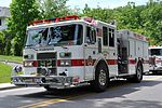 A white firetruck