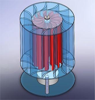 Vertical axis wind turbine - Vortexis Schematic