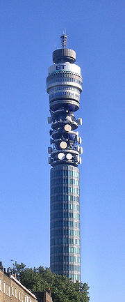 La BT Tower depuis Euston Road